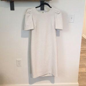 Calvin Klein Dresses - Calvin Klein dress.Size 6.White with black stripes